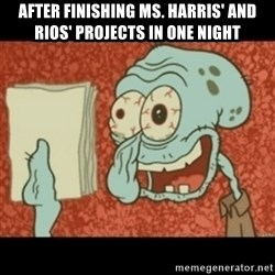 Squidward Tired - AFTER FINISHING Ms. Harris' and Rios' projects in one night