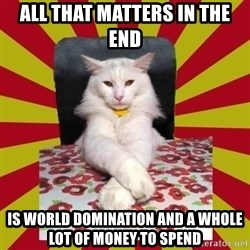 Dictator Cat - All that matters in the end IS WORLD DOMINATION and a whole lot of money to spend