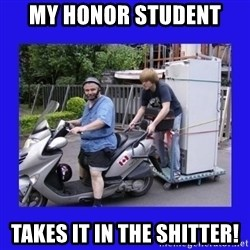 Motorfezzie - my honor student takes it in the shitter!