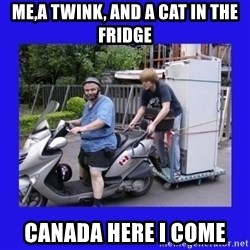 Motorfezzie - Me,a twink, and a cat in the fridge Canada here i come