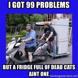 Motorfezzie - I got 99 problems but a fridge full of dead cats aint one