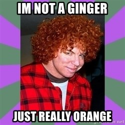 Carrot Top - im not a ginger just really orange