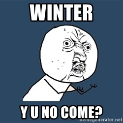Y U No - Winter Y u no come?