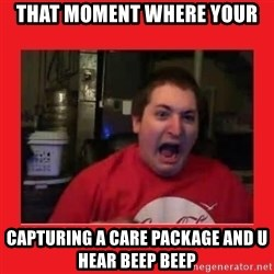 Disgruntled Joseph - THAT MOMENT WHERE YOUR  CAPTURING A CARE PACKAGE AND U HEAR BEEP BEEP