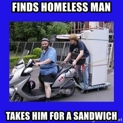 Motorfezzie - Finds homeless man Takes him for a sandwich