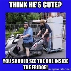 Motorfezzie - Think he's cute? you should see the one inside the fridge!