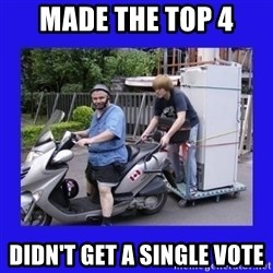 Motorfezzie - Made the top 4 didn't get a single vote