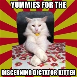 Dictator Cat - YUMMIES FOR THE DISCERNING DICTATOR KITTEH