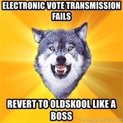 Courage Wolf - ELECTRONIC VOTE TRANSMISSION FAILS REVERT TO OLDSKOOL LIKE A BOSS