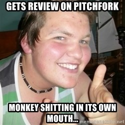Whipped Boyfriend Perry - gets review on pitchfork monkey shitting in its own mouth...