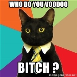 Business Cat - WHO DO YOU VOODOO BITCH ?