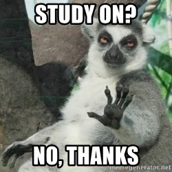 no thanks - study on? no, thanks
