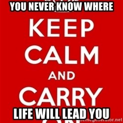Keep Calm - YOu Never know Where Life Will Lead You