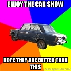 AdviceCar - enjoy the car show hope they are better than this