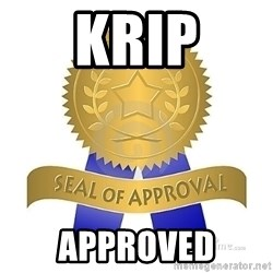 official seal of approval - krip approved