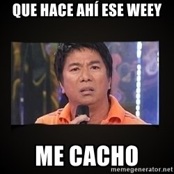 Willie Revillame me - QUE HACE AHÍ ESE WEEY ME CACHO
