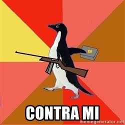 Socially Fed Up Penguin -  Contra mi