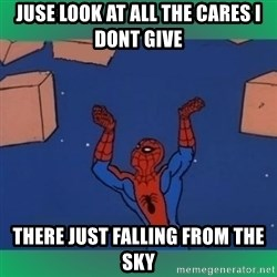 60's spiderman - Juse look at all the cares i  dont give there just falling from the sky