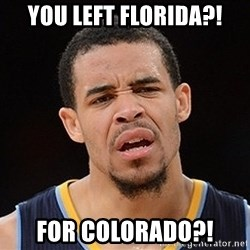 Javale Mcgee :) - You left florida?! For Colorado?!