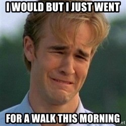 90s Problems - I WOULD BUT I JUST WENT  FOR A WALK THIS MORNING