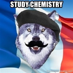Monsieur Le Courage Wolf - study chemistry