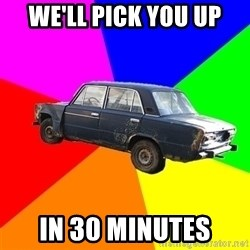 AdviceCar - we'll pick you up in 30 minutes