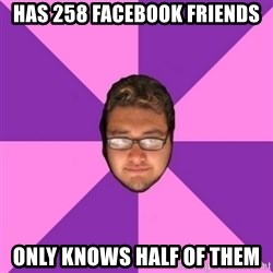 Forever AYOLO Erik - has 258 facebook friends only knows half of them