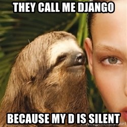 The Rape Sloth - They call me django Because my D is silent