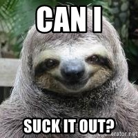 Sexual Sloth - CAN I SUCK IT OUT?