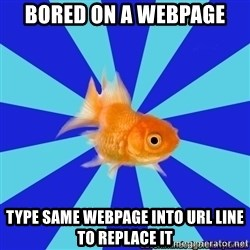 Absentminded Goldfish - Bored On A WebPAGe TypE Same WEBPAGE INTO URL LINE TO REPLACE IT