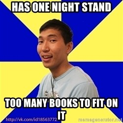 Jerk Aldarik - has one night stand too many books to fit on it