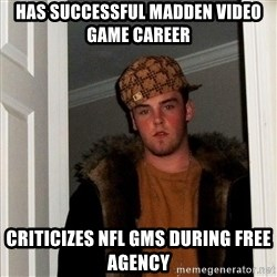 Scumbag Steve - Has successful madden video game career criticizes nfl gms during free agency
