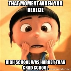 Despicable Meme - That moment when you realize high school was harder than grad school