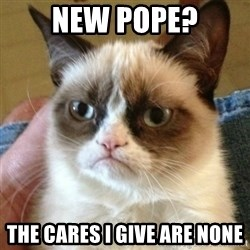mean cat - New Pope? The Cares I Give Are None