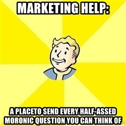 Fallout 3 - marketing help: a placeto send every half-assed moronic question you can think of