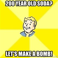 Fallout 3 - 200 year old soda? let's make a bomb!