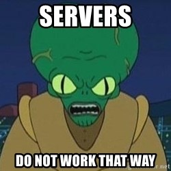 Morbo - servers do not work that way