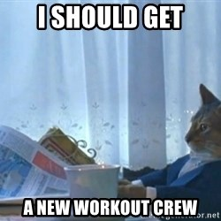 Sophisticated Cat - I should get a new workout crew