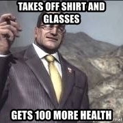Nanomachines, son - Takes off shirt and glasses gets 100 more health