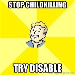 Fallout 3 - Stop Childkilling Try Disable