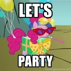 pinkie pie dragonshy - let's party