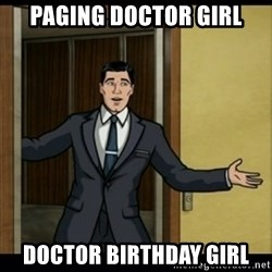 Archer Birthday Boy - Paging doctor girl doctor birthday girl