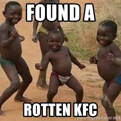 african children dancing - found a  rotten kfc