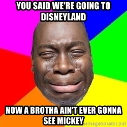 Sad Brutha - You said we're going to disneyland now a brotha ain't ever gonna see mickey
