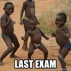 Dancing african boy -  Last exam