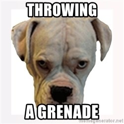 stahp guise - throwing a grenade