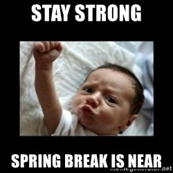 Stay strong meme - Stay strong  SPring break is near