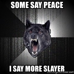 Insanity Wolf - Some say peace i say more slayer