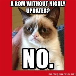 No cat - A rom without nighly updates? No.