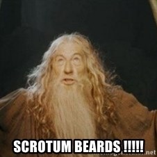 Gandalf -  Scrotum beards !!!!!